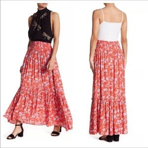 Free People Way is the Wind Red Maxi Skirt size XS